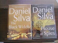 THE BLACK WIDOW #16 & HOUSE OF SPIES #17, Daniel Silva, SIGNED,1st prints HC
