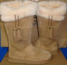 UGG Australia PLUMDALE Chestnut Suede Sheepskin Boots Size US 7, EU 38 NIB #1894