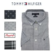 CLEARANCE!  NWT Tommy Hilfiger Men's Classic Fit Short Sleeve Woven Shirt J42