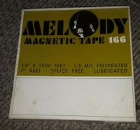 "MELODY MAGNETIC RECORDING reel to reel TAPE 166 1/4"" 1200 FT. 7"" gently used"