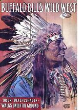"TIN SIGN ""Buffalo Bills Wild West"" Art Deco Garage Wall Decor"