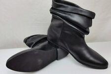 NEW! Wittner Ankle Boots 41 Black Leather Sozo Slip On Flat Career Work Event