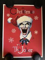 Mondo Christmas With The Joker Variant Art Poster by Phantom City Creative X/150