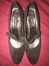ECCO Brown Suede Many Jane Shoes UK 6 EUR 39