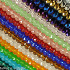 Wholesale Lots Czech Rondelle Crystal Beads Glass Loose Charm Spacer Facet 4-8mm