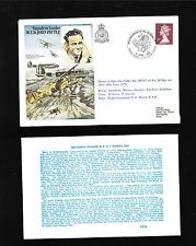 Great Britain Flown Cover 1978 Wwii Raf John Pattle & Insert Card (