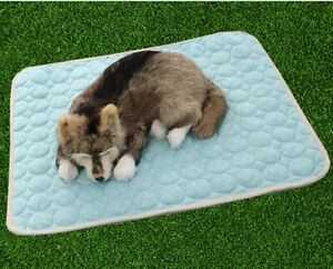 Hunde Decke Atmungsaktiv Cool Mat Kühlmatte Kühlkissen Kühldecke Kühlende Blau