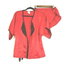 Frederick's of Hollywood Women's Red Sleepwear Pants/Top 2 piece Size M