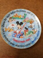 1988 Disney Fourth Limited Edition Mickey Mouse Christmas Plate