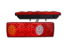 2 PCS 24V LED RECOVERY REAR LIGHTS TAIL LAMPS TRUCK LORRY TRAILER CHASSIS WAGON