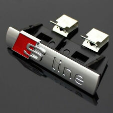 GRILL GRILLE CHROME Matte Badge For Audi S Line SPORTS CAR Emblems Decal Alloy