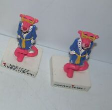 Funny Set of 2 Pink Panther Animated Plastic Cartoon PVC Figurines