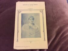 Leisure Moments Supplement -Poet/Author Louise Mack 1898