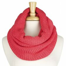 Coral Colored Acrylic Fashion Infinity Scarf