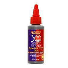 SALON PRO EXCLUSIVES 30 SEC SUPER HAIR BOND GLUE 2oz MADE IN USA