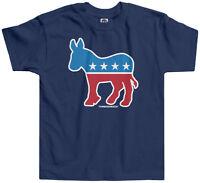 Threadrock Kids Democrat Donkey Toddler T-shirt Logo Symbol Political Party