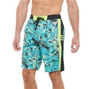 NWT - ADIDAS Confetti E-Board Swim Shorts (Turquoise/Aqua) Size XL