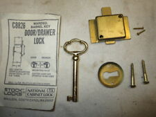 VINTAGE ANTIQUE DESK DRAWER / CABINET LOCK, National Cabinet Key, Latch C8826
