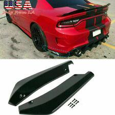 Sport Racing Gloss Black Rear Bumper Diffuser Splitter Canard For Dodge Charger