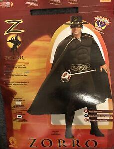 Zorro Mens Costume Size Xl