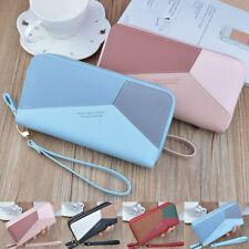Women PU Leather Long Wallet Handbag Purse Bag Card Phone Holder Large Capacity