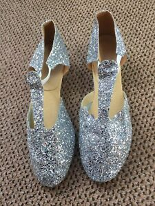 Glittered Dance Shoes Size 8