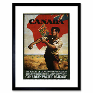 Travel Colonial Railway Canada UK Ad Framed Art Print Picture Mount 12x16 Inch