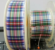 Dress Stewart 1mtr Tartan Woven Ribbon-  b2