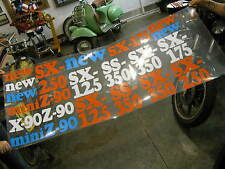 1970s Harley Davidson Dealer Window See Through Display Sign Poster Z90 SX SS