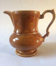 Large Vintage Lord Nelson Pottery Jug   17cm VGC Caramel Glaze