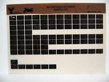 Yamaha VMX1200 V-Max 1986 VMX1200S VMX1200SC  Parts List Manual Microfiche o23