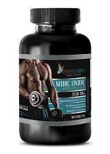 Nitric Oxide 3150mg - Powder Serious Muscle Growth - 90 Capsules 1 Bottle