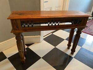Indian Jali Sheesham Side Table - Used