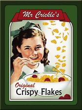 Vintage Reklame Retro Mr. Crickles CRISPY Flakes MAGNET Pin / Kühlschrankmagnet