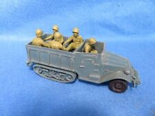 Marx Vintage WWII U.S. Halftrack, and reissue seated Toy Soldiers