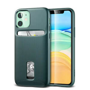 ESR Wallet Armor Card Holder Case Cover for Apple iPhone 11 Pine Green