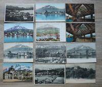 Posten 53 AK Schweiz 1900-50 Luzern Häuser Bahnhof Straßenbahn Ortsansicht LU2
