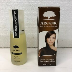 Organic Moroccan Arganic Arganolie Oil 1.7oz 100% pure Face Hair & body NEW 50ml