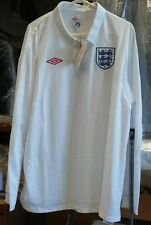"NWT Authentic Umbro 2010 England long sleeve jersey 3XL 54"" Beckham Gerrard era"