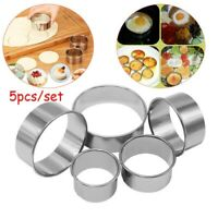 5pcs/Set Stainless Steel Biscuit Pastry Wrap Dough Cutter Tool Fondant Mold