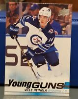 2019-20 Upper Deck YOUNG GUNS Ville Heinola Winnipeg Jets ROOKIE #204