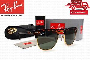 RayBan Clubmaster Classic Tortoise Sunglasses G-15 Len RB3016 W0366 51mm Ray-Ban