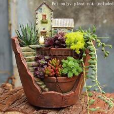Sky Garden Herb Flower Basket Planter Succulent Pot Trough Box Plant Bed Decor