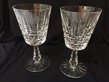 Pair Vintage Waterford Crystal Kylemore Claret Wine/Water Goblets 8 available