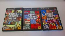 PS2 LOT of 3 Grand Theft Auto Games Vice City, San Andreas, GTA III