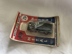 Vintage Bottle Series Metal Mites Barclay Diecast  U.S. Army Truck Sealed Card