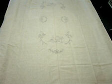 Vintage Linen Tablecloth Norway Juleduk Christmas to Embroider, no directions