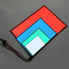 New Electroluminescent A4 EL Panel White /Aqua /Blue /Red Glow Paper Neon Sheet