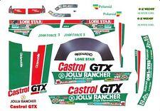 John Force Castrol GTX Drag Car 1/24th - 1/25th Scale Waterslide Decals