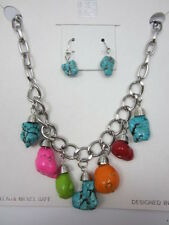 Chunky Multi-Colored Stone Necklace